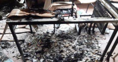 Luego del ataque vandálico, ahora incendian oficinas del CEP Nº 1