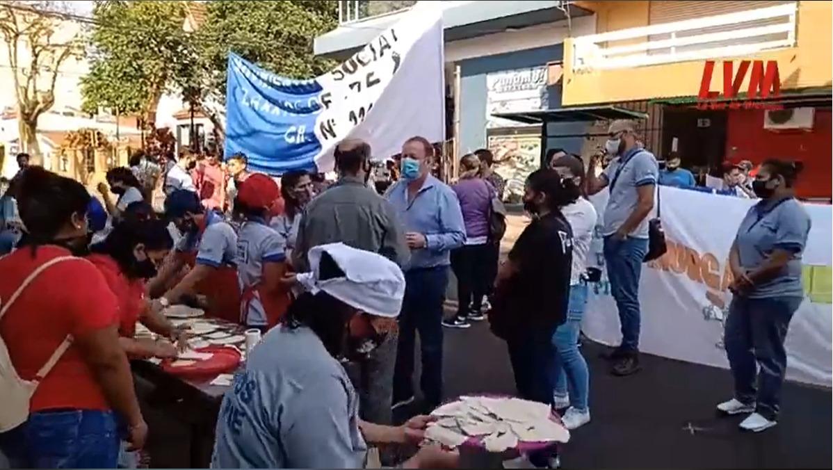 Contra el gobierno nacional Barrios de Pie se manifestó en Posadas