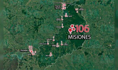 Mapa del covid en Misiones: Posadas e Iguazú, al tope de los contagios