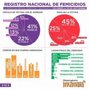 En lo que va del año, hubo 202 femicidios en el país, uno cada 32 horas