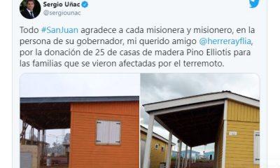 Herrera Ahuad le regaló 25 casas de madera misionera a San Juan