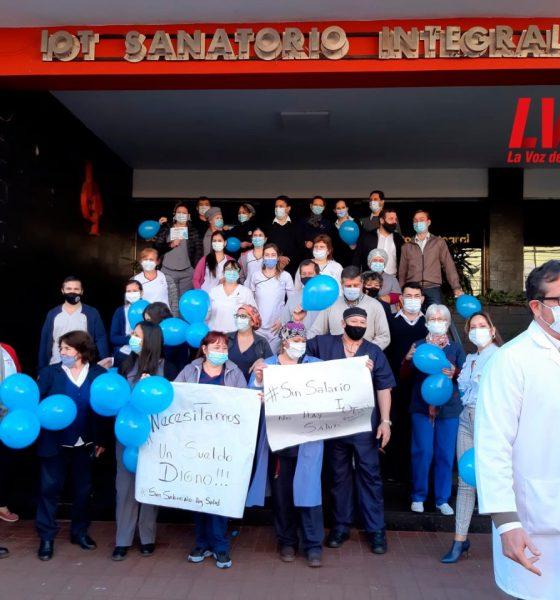 Trabajadores de salud del Sanatorio IOT exigen sueldos dignos
