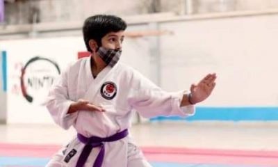 Es campeón argentino de Karate, junta para revalidar su título y viajar al mundial