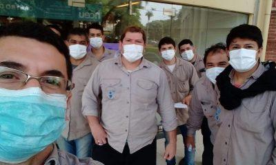 Sin aguinaldo ni obra social, personal de mantenimiento reclamó en el Madariaga
