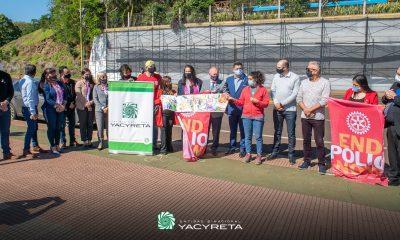 Yacyretá promueve mural a favor de la lucha contra la poliomielitis