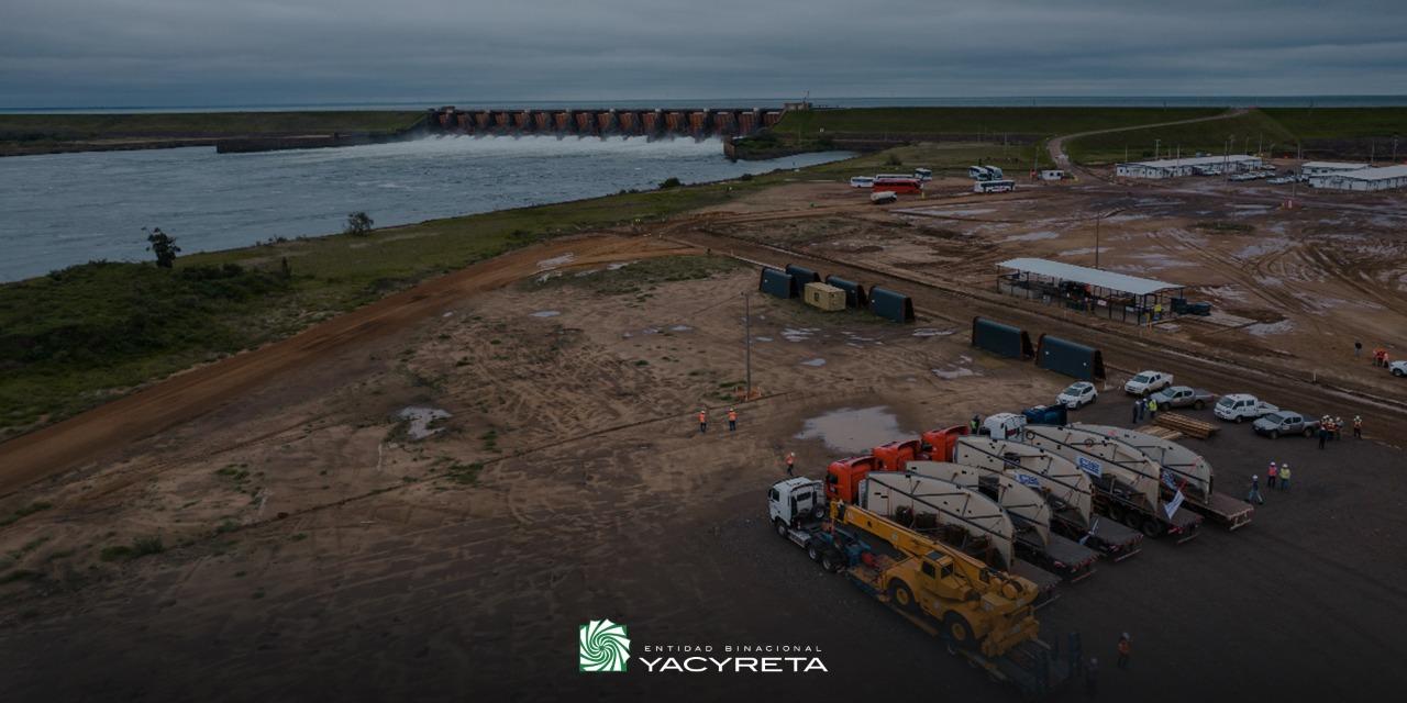 Llegan a la zona de obras de Añá Cuá los primeros componentes electromecánicos