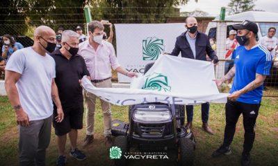 Yacyretá entregó maquinaria y equipamientos al Club Deportivo El Brete