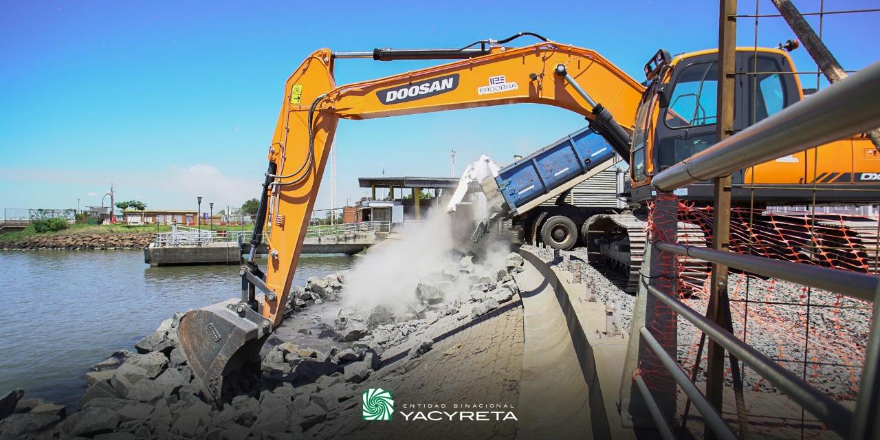 Se iniciaron las obras del pedraplén en la avenida Costanera Etapa IV